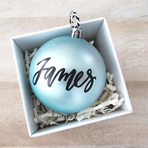 Blue Shatterproof Ornament