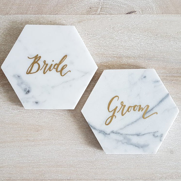Personalized Marble Coasters