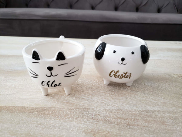 Cat and Dog planter