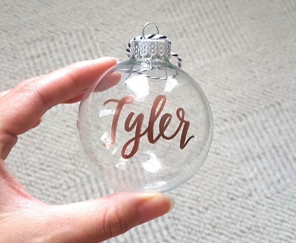 Personalized Clear Glass Ornament