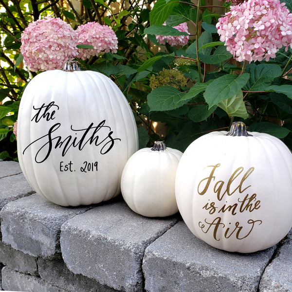 Personalized White Pumpkin