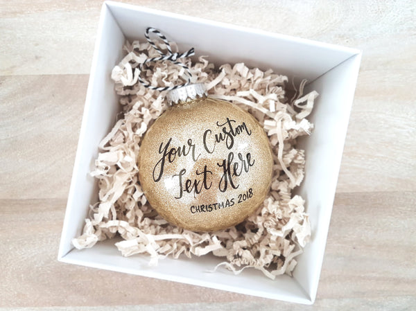 Gold Personalized Christmas Ornament