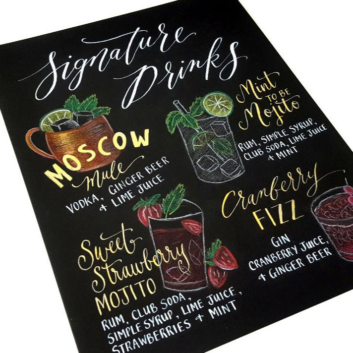 Custom Signature Drink Sign