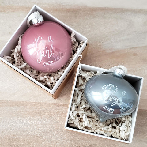 Gender Reveal Ornament