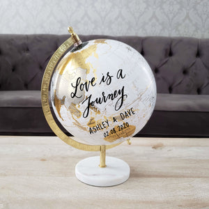 Marble Globe Guest book
