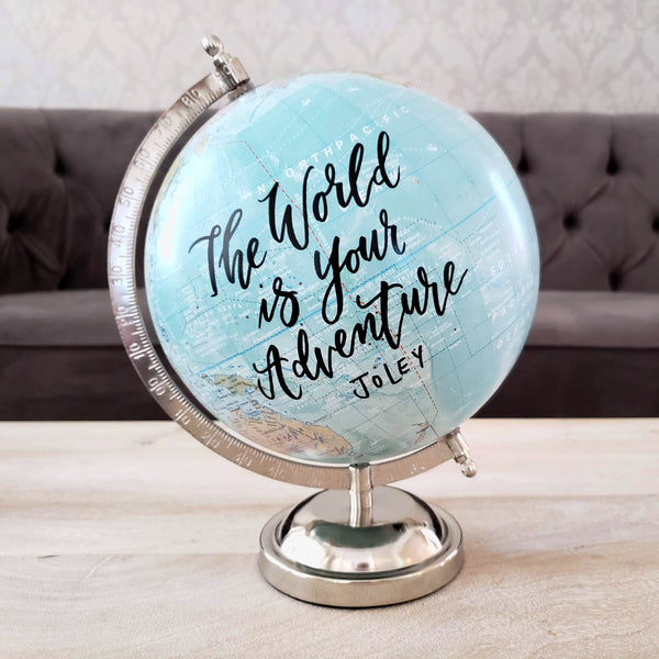 The world is your adventure globe