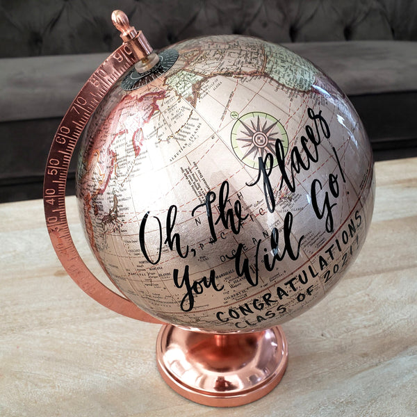 Rose Gold Graduation Globe