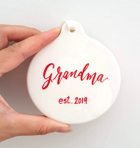 Ceramic Circle Christmas Ornament