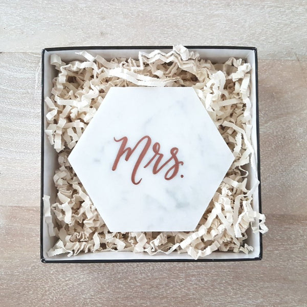 Personalized marble coaster gift