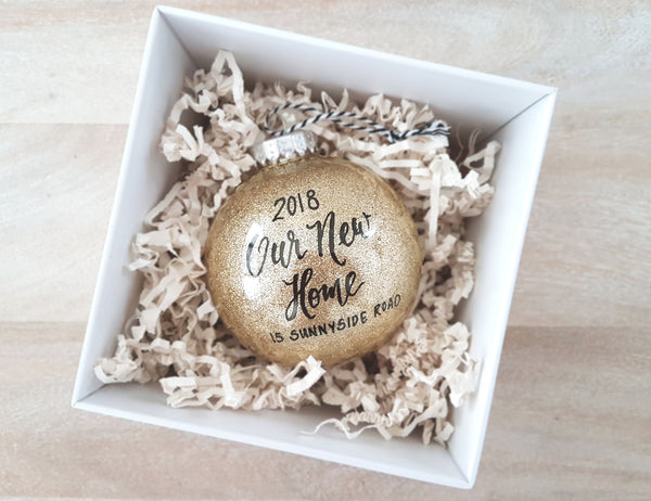new home personalized ornament