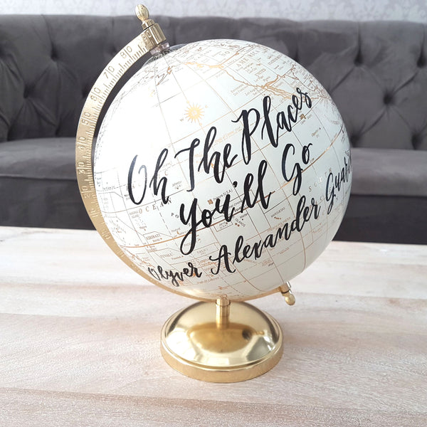 Oh the places you'll go gold globe