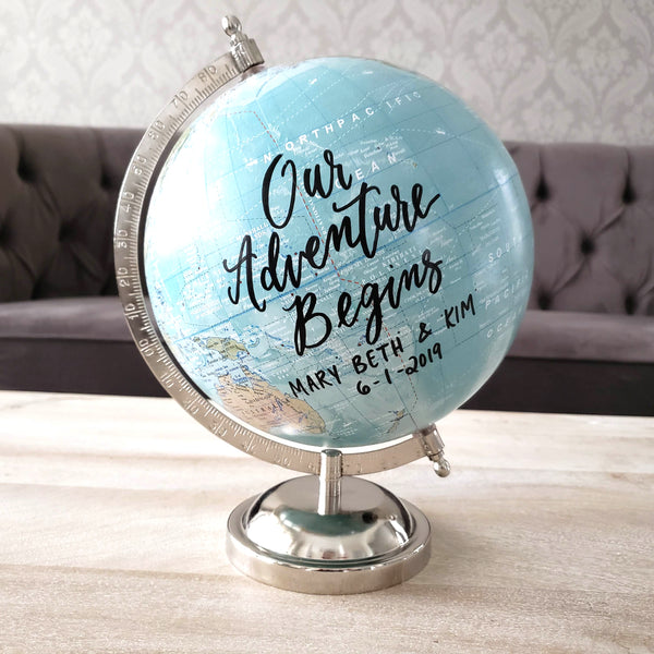 Blue World Globe Wedding