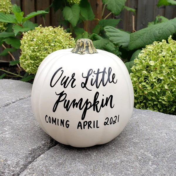 Our Little Pumpkin Pregnancy Announcement