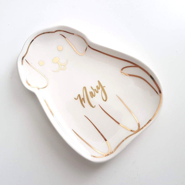 personalized dog trinket dish