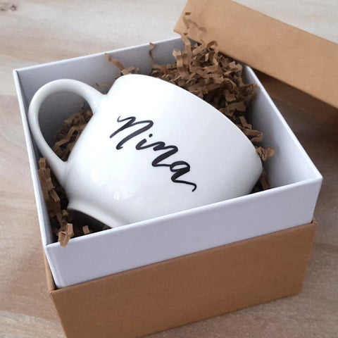personalized mug in gift box