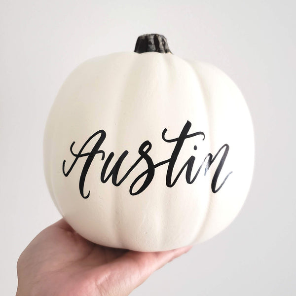 Custom Calligraphy Pumpkin