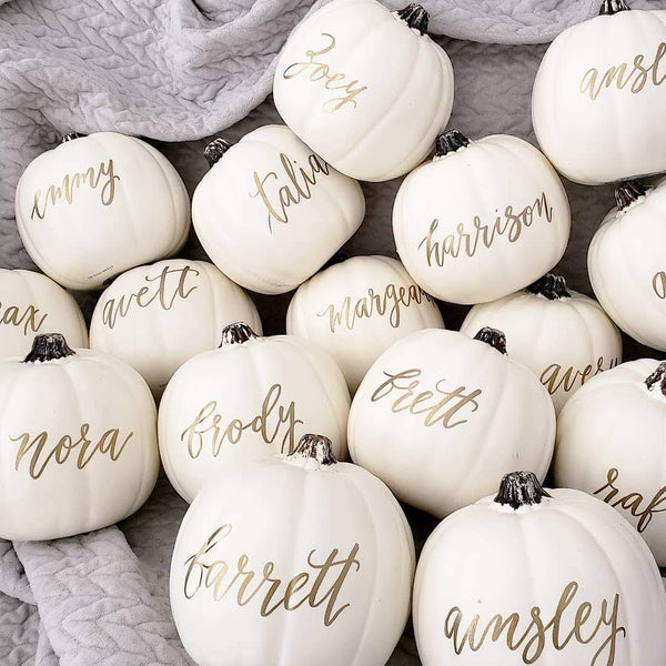 Personalized White Pumpkins
