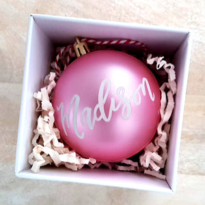 "3.25"" Personalized Pink Bauble"