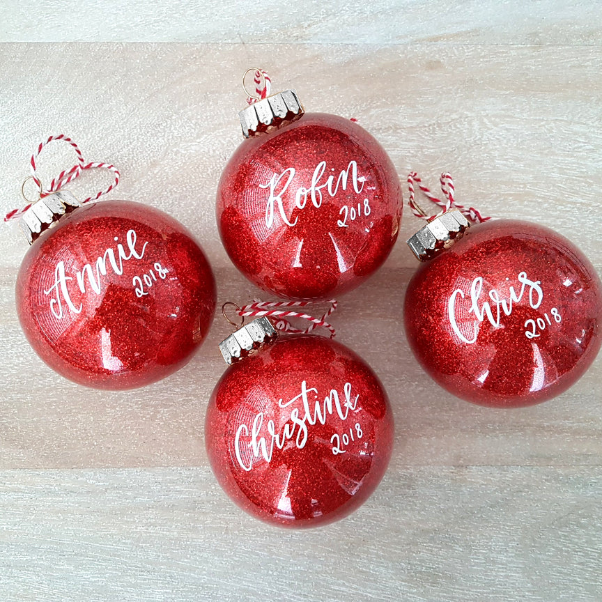 Red Glitter Christmas Ornament