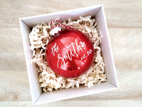 Red Newlywed Christmas Ornament
