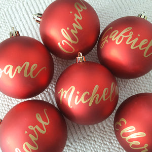 "3.25"" Personalized Red Bauble"