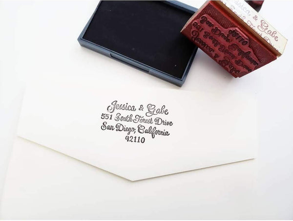 calligraphy rubber address stamp