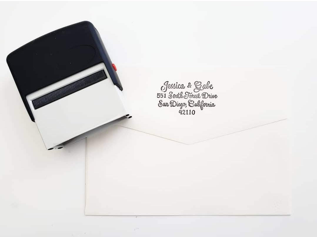 self inking rubber address stamp