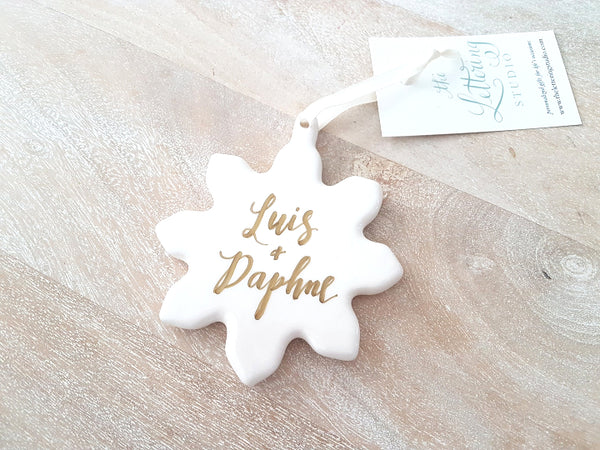 Ceramic Snowflake Christmas Ornament
