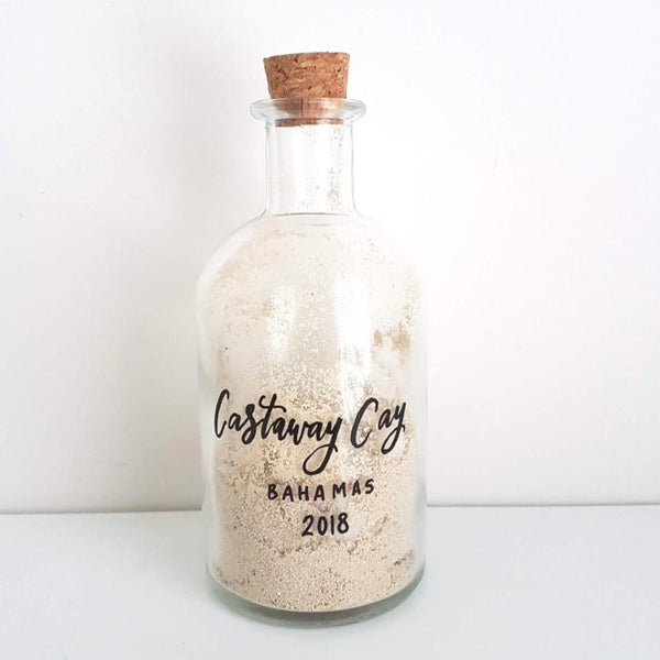 Vacation sand bottle
