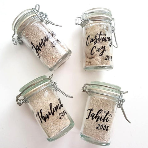 vacation sand jars