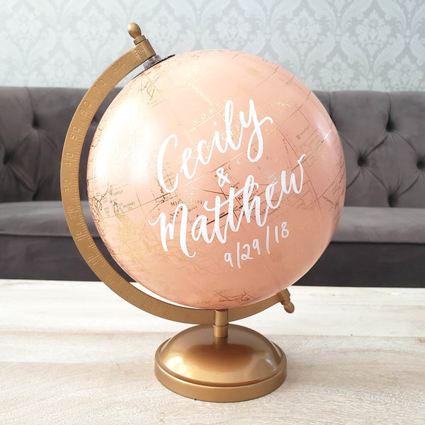 Blush Wedding Globe