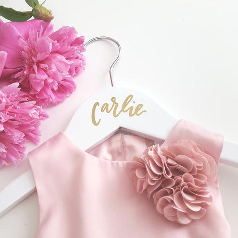 personalized flower girl hanger