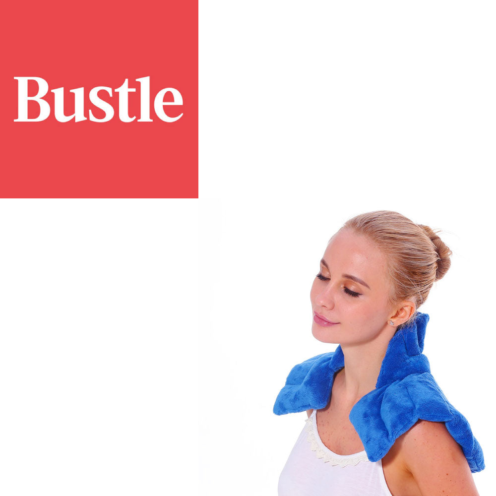 Huggaroo Original neck and shoulder heating pad feature in Bustle