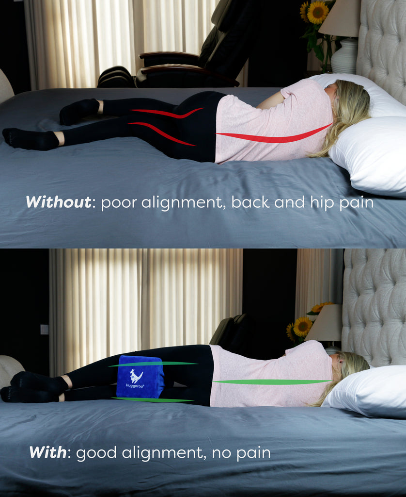 benefits of the huggaroo orthopedic knee pillow