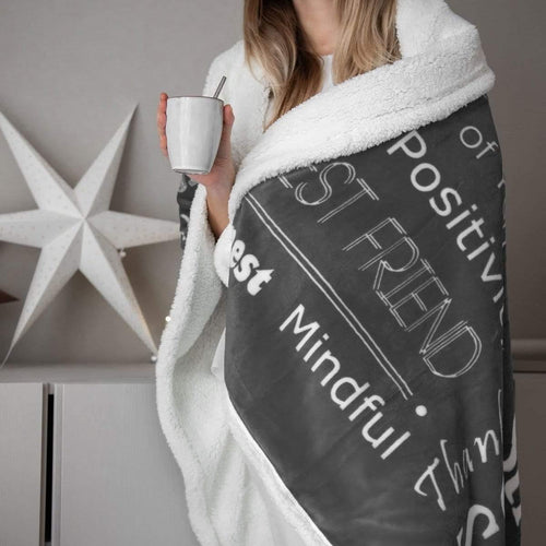 huggaroo best friend sherpa blanket in grey