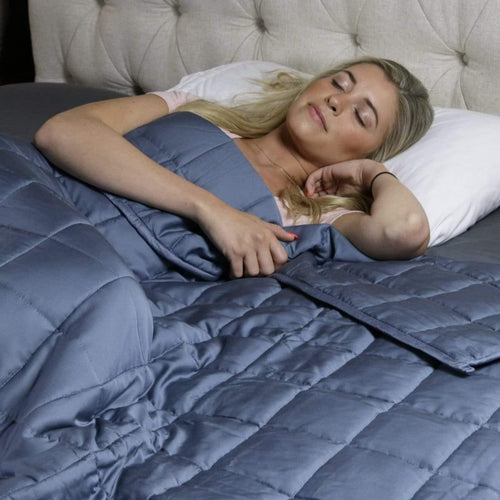 Huggaroo Cooling Weighted Blanket - 15 lb, 60 x 80 inches, Grey HWB15BSG 855448007230