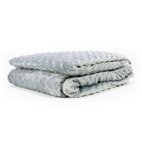 Huggaroo Duvet Cover for the 15 lb Cooling Weighted Blanket - Grey HWBC6080MDG 855448007247