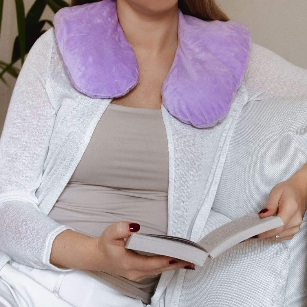 NEW - Huggaroo Microwavable Heating Pad with Washable Cover and Lavender HNWRC1AT 855448007414