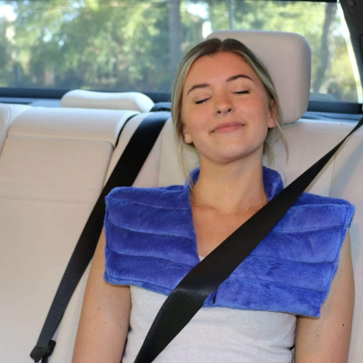 Huggaroo Neck Heating Pad - Weighted, Aromatherapy, Blue HNWV2BLUE