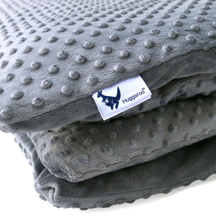 Huggaroo Weighted Blanket - 15 lb, Extra Fluffy, Gray HWB15MXFDG