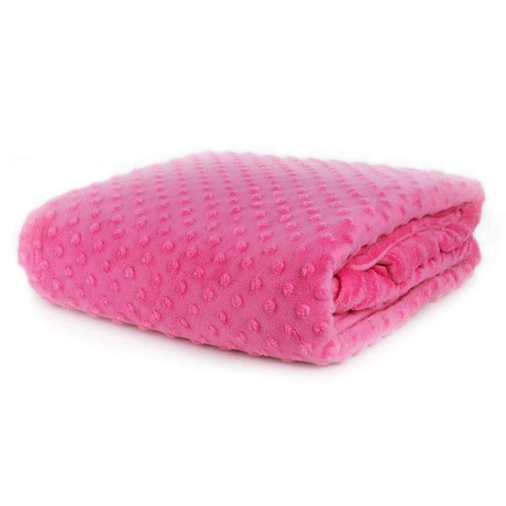 Huggaroo Weighted Blanket for Kids - 7 lb, Hot Pink HWB7MHP