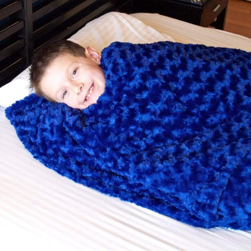 Huggaroo Weighted Blanket for Kids - 7 lb, Sapphire HWB3648SB 855448007018