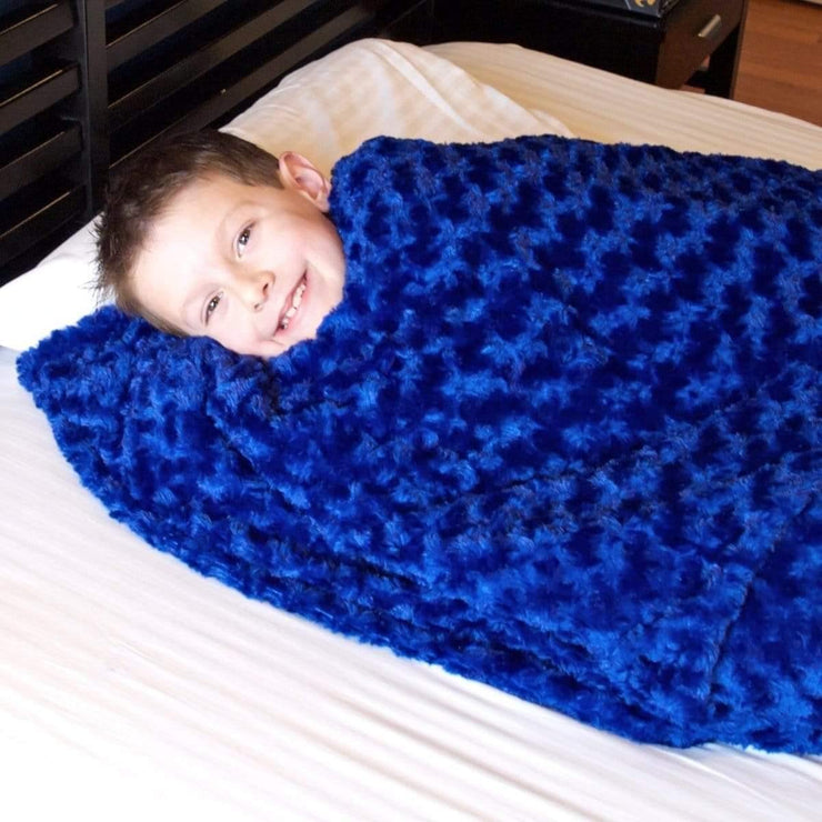 Huggaroo Weighted Blanket for Kids - 7 lb, Sapphire HWB3648SB