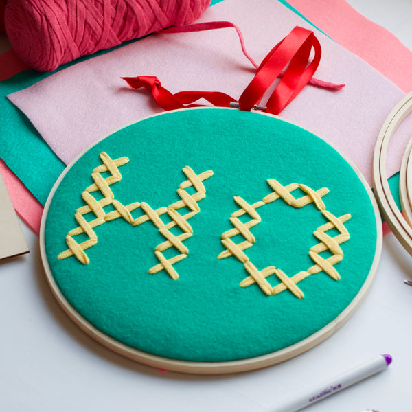 DIY Tutorial: Super Sized Cross Stitch Ho Hoops