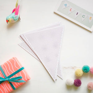 Embroidery Card - Bunting