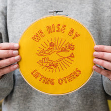 Load image into Gallery viewer, We Rise by Lifting Others Embroidery Kit
