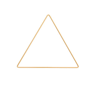 Gold Metal Triangle Frame