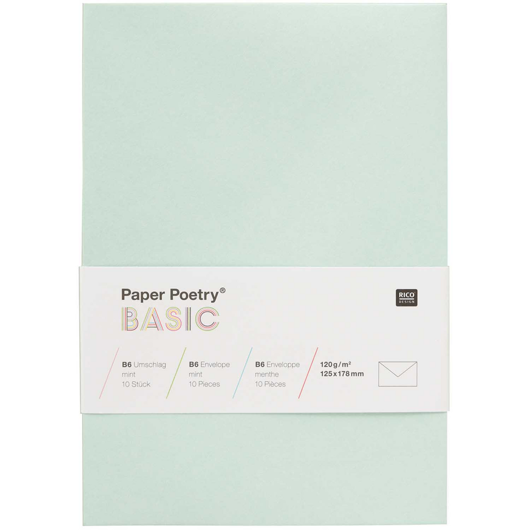 Mint B6 Envelopes