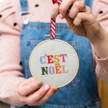 Load image into Gallery viewer, C'est Noel Cross Stitch Kit
