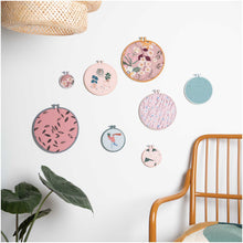 Load image into Gallery viewer, Pink Embroidery Hoop 9.5cm